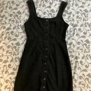 Button-down denim dress
